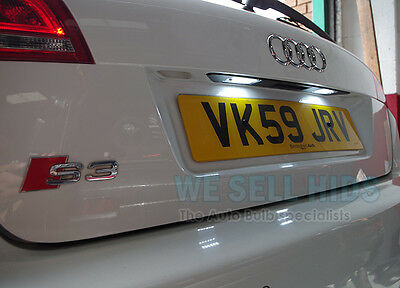 Audi A3 S3 8P Plate Sline Quattro Number Plate Led Unit Module White 18 Smd