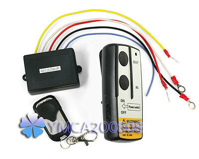 New 12V 12 Volt Wireless Remote Control Kit for Truck Jeep ATV Winch Warn Ramsey