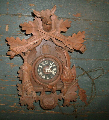 Vintage Antique Regula Cuckoo Coo Coo Clock Parts Rabbit