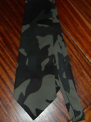 Handmade,Made to Order Military Green Twill Camo Neck Tie Ships n <48