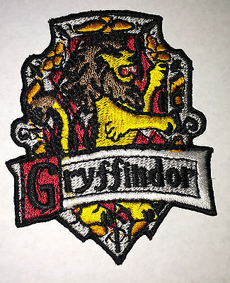 HARRY POTTER GRYFFINDOR  IRON ON EMBROIDERED SIZE 3 X 3 INCH PATCH