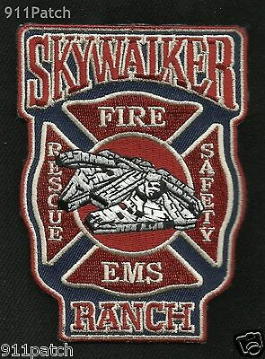 SKY WALKER RANCH, Nicasio, CA - Skywalker Fire Dept EMS Rescue FIREFIGHTER Patch