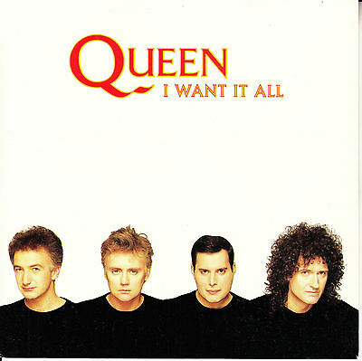 """QUEEN  I Want It All & Hang On In There PICTURE SLEEVE 7"""" 45 rpm vinyl record"""