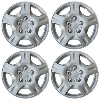 """Set of 4 NEW Hub Caps ABS Silver 14"""" Inch Rim Wheel Cover Hubcaps Cap Covers"""