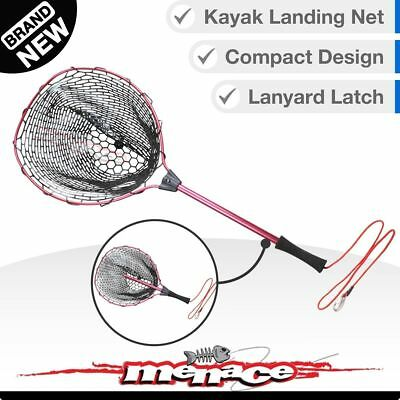 Fishing Landing Net - Compact Kayak Boat Telescopic - Fish Nets Rubber