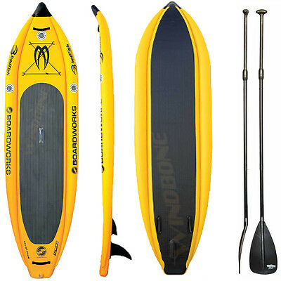 2016 Boardworks Badfish MCIT 10-6 Inflatable Stand Up Paddle Board SUP Y+ Paddle
