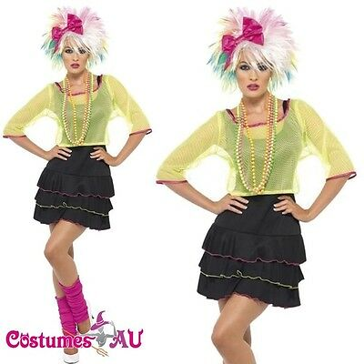 Madonna 1980s 80s Pop Star Diva Cyndi Lauper Fancy Dress Hens Party Costume