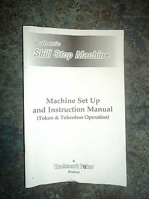 Pachislo Manual - Set Up and Instructions.  Printed, Original