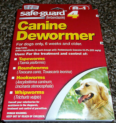 Safe-Guard Canine Dewormer (8 in 1) - New In Box - Treats 40 Lbs