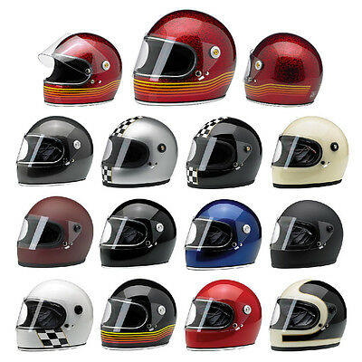 *SHIPS SAME DAY* BILTWELL GRINGO S MOTORCYCLE HELMET (Solid, Checker, Titanium..