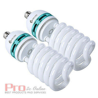2x85W Studio Photo Fluorescent Daylight 5400K E27 Light Lamp Bulb for Lighting