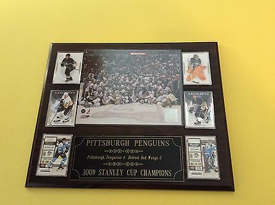 Pittsburgh Penguins 2009 Stanley Cup 6 card plaque with custom engraving