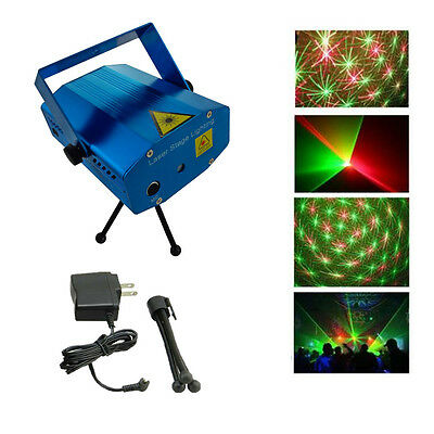 Mini adjustable Projector DJ Disco Light Stage Xmas Party Laser Lighting Show