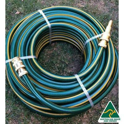 "100M Premium 3/4"" Flexible Garden Hose With 18MM Brass Fittings KINK FREE"