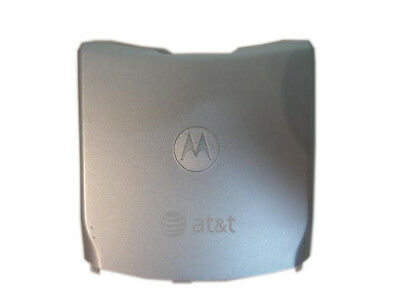 Motorola RAZR V3A V3S Standard Battery Door Back Cover AT&T Metal Silver OEM