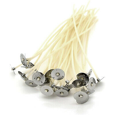 50 x 80mm-8cm Pre Waxed  Wicks For candle making with sustainers.