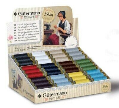 50% EXTRA FREE Gutermann 150m Sew All Polyester Sewing Thread Hand or Machine