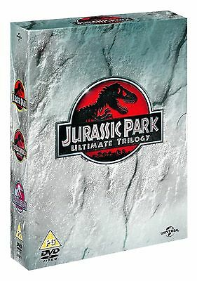 JURASSIC PARK Trilogy 1-3 Complete Movie Collection Part 1 2 3 Boxset New UK DVD