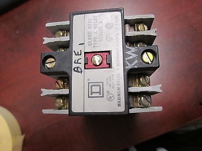 Square D Control Relay, 8501 XB-40, X040 Base, 12 Terminal, 120V Coil, Used
