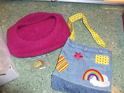 American Girl Doll Ivy's Ivys Meet Accessories Purse Beret Coin Julie's Retired