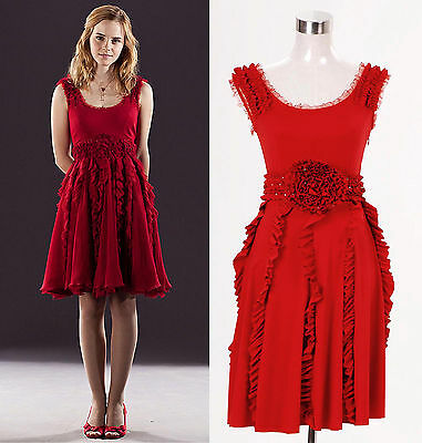Harry Potter and the Deathly Hallows Hermione Granger Red Dress *Tailored*