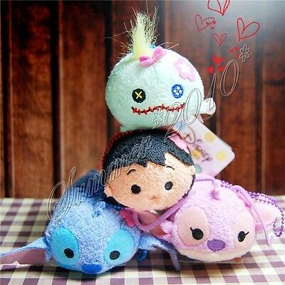 "3.5"" Loli&Stitch Tiny Plush Doll Mini Toy Tsum Key Accessories Phone Screen Wipe"