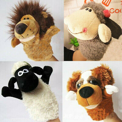 Story Learning Baby Kid Children Zoo Plush Toy Animal Hand Glove Puppets Cute