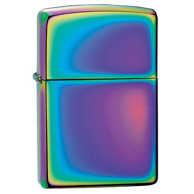 Zippo Spectrum Windproof Lighter Plain Slim Compact Design Refillable Multicolor