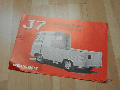 catalogue PEUGEOT J7 Pick up 2 places 1968