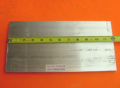 "10 Pieces 1/2"" X 6"" ALUMINUM 6061 FLAT BAR 12"" long T6511 .500 Plate Mill Stock"
