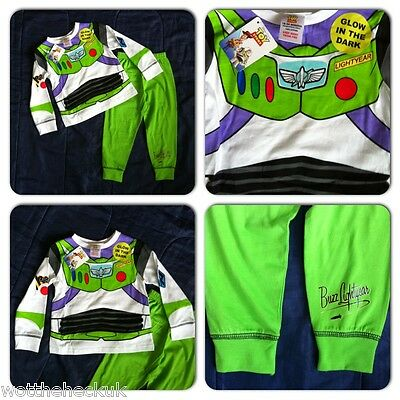 Licensed Toy Story Buzz Lightyear Long Sleeve Leg Cotton Pyjamas PJs Nightwear