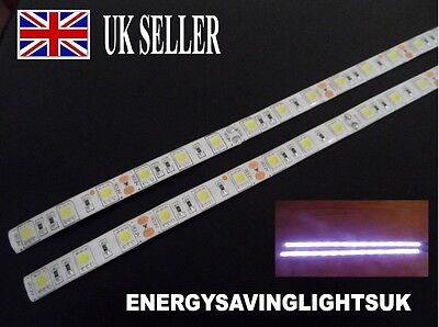 2 x 15 LED WHITE 5050 WATERPROOF LED STRIP LIGHTS DC12V CAR SWB IVECO DAILY VAN