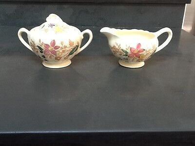 Vintage J&G Meakin Cotswold Pattern Cream and Sugar Set