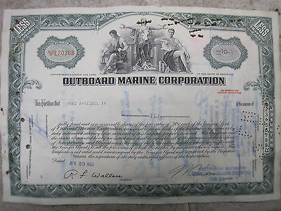 Old Outboard Marine Corporation Stock Certificate
