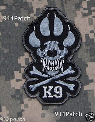 Military K-9 Teams Police Dog Canine Law Enforcement Hook Patch - Urban