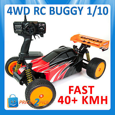 1/10 Scale 4Wd Remote Control Rc Race Car Off Road Buggy Electric Radio Control