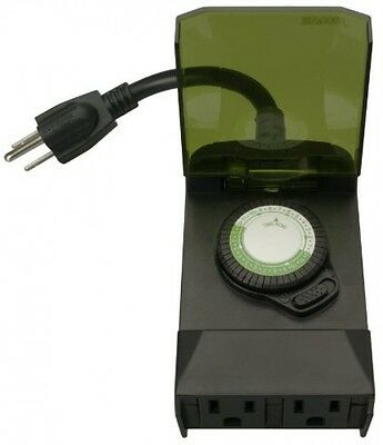 Woods Outdoor 24-Hour Mechanical Outlet Timer Box, 50011, New, Free Shipping