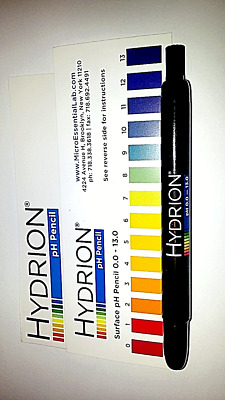 1 Hydrion Insta-Check 0-13 Mechanical pH Pencil PEN Acid Surface Testing Test LA