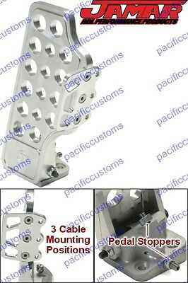 Jamar Pro-X Machined Billet Aluminum Throttle Pedal With Side Foot Rest - Buggy