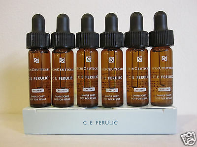 SkinCeuticals C E Ferulic Travel Pack 6 Samples, New in Box