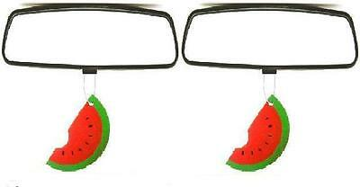 2 x Car Air Fresheners Hanging Watermelon Fruit Scent Home Office Freshener