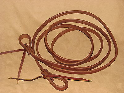 "Showman 1/2"" x 8' Long Oiled Harness Leather Roping Reins Horse or Pony Reins"