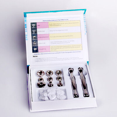 Stainless Steel Diamond Microdermabrasion Dermabrasion Tip&Wand Replacements Spa