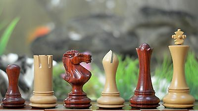 The Empire Series Wooden Chess Pieces in Bud Rose & Box Wood Chess Pieces