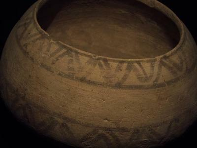 Ancient Teracotta Bronze Age Large Painted Pot 2500 BC