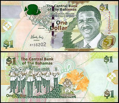 "Bahamas 1 Dollar Banknote, 2008, P-71, UNC, Sir Lynden O, ""Father of the Nation"""
