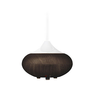 Dark Wood-Grain Ultrasonic AROMATHERAPY DIFFUSER for Essential Oils Air Atomizer