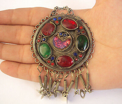 Ethnic Vintage Antique Traditional Handcrafted Afghan Kuchi Tika Pendant jewelry