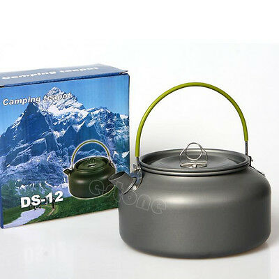 1.2L Survival Camping Outdoor Pot Water Kettle Teapot Aluminum With Mesh Bag New