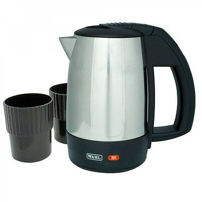 Wahl ZX643 0.5 Litre 1Kw Stainless Steel Travel Kettle With 2 Travel Cups